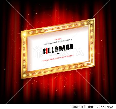Red Curtain Background Blank Billboard 71351452