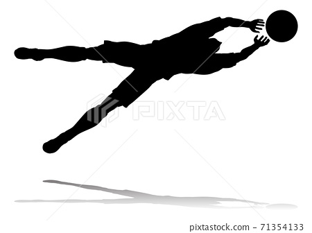 Soccer Football Player Silhouette 71354133