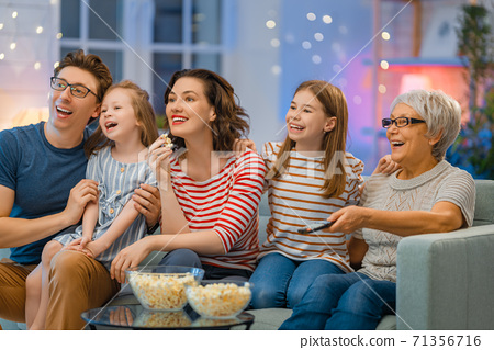 Happy family spending time together. 71356716