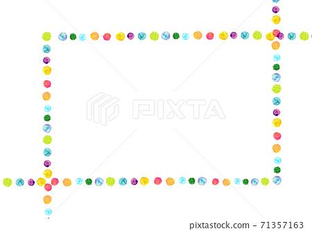 배경 소재 도트 무지개 그라데이션 71357163