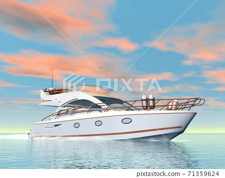 Quiet yacht - 3D render 71359624
