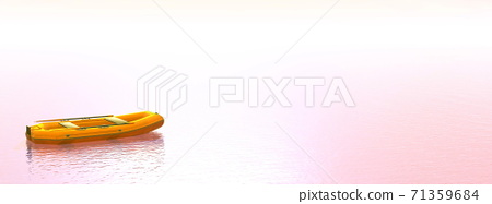 Inflatable boat - 3D render 71359684