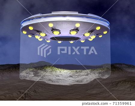 UFO landing - 3D render 71359961