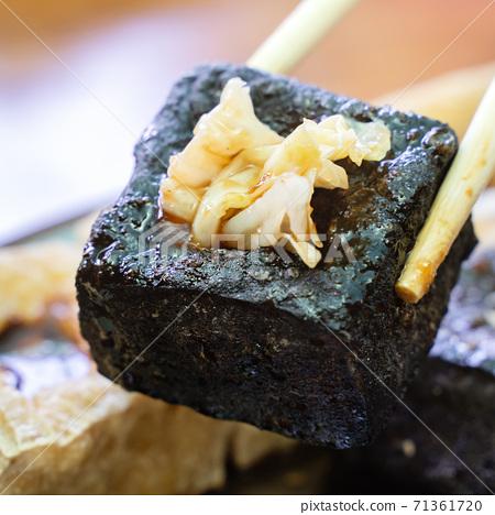臭豆腐 路邊攤 夜市 泡菜 Stinky tofu street food チョウドウフ 71361720