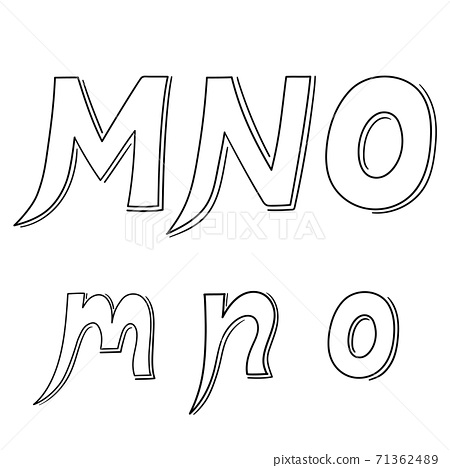 Hand writing M&N&O on white background.Vector illustration design. 71362489