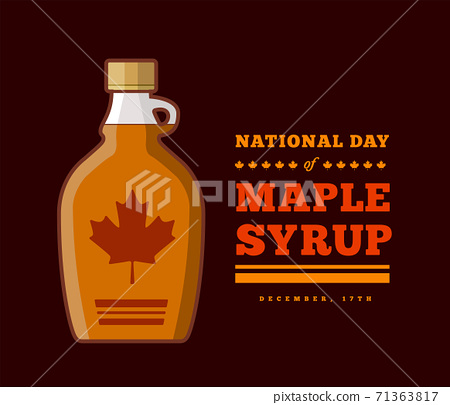 Maple Syrup Day December 17. Vector illustration 71363817