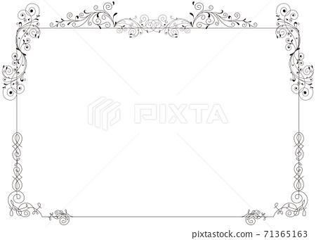 Elegant line frame material 71365163