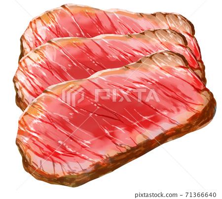 스테이크 고기 3 겹 71366640