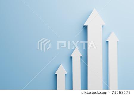 상승그래프 비즈니스 컨셉 71368572