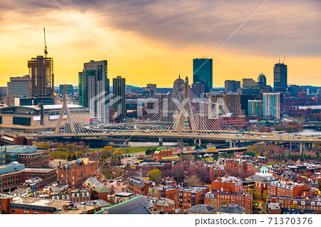 Boston, Massachusetts, USA Skyline 71370376