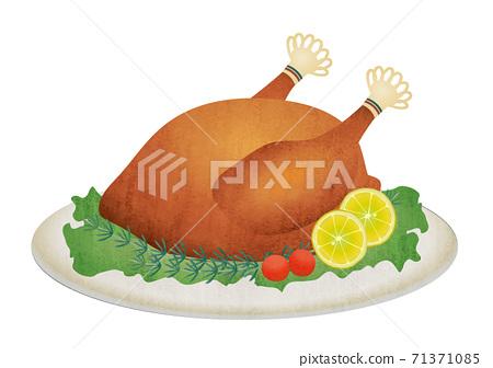 烤雞的物質插圖 71371085