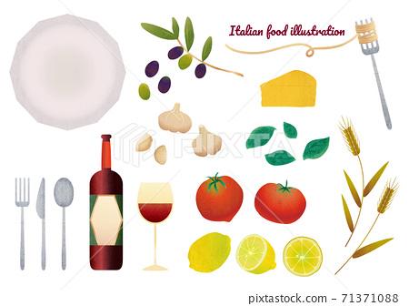 意大利食品的成分圖 71371088