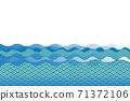 일본식 디자인 칭하이 물결 문양, 西崖 바다의 이미지, 길상 재수 일본식 이미지 소재 71372106