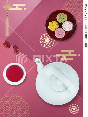 韓國傳統食品背景圖片 71374538