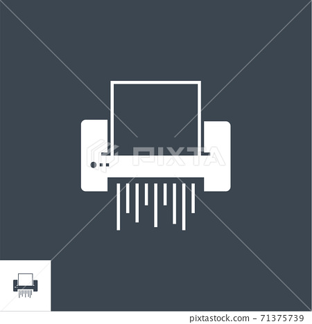 Paper Shredder related vector glyph icon. 71375739