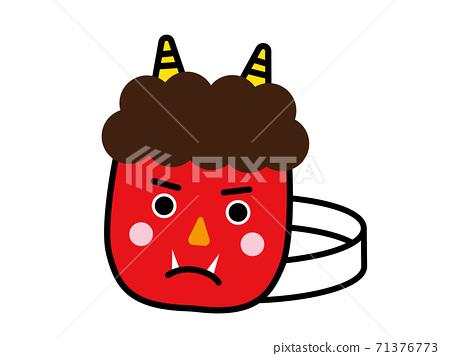 Akaoni's mask Setsubun's mask 71376773