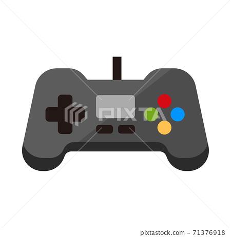 비디오 게임 컨트롤러 / 가구 · 가전 벡터 컬러 아이콘 71376918