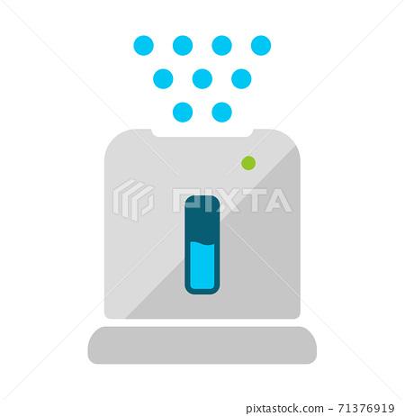 加濕器/空氣淨化器/家具/家電矢量顏色圖標 71376919