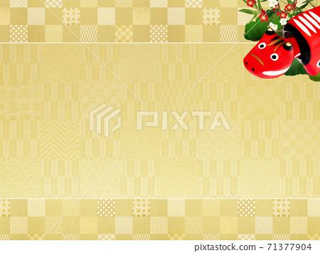 빨강 모든 것을 송죽매를 장식 한 화려한 체크 무늬 배경 - 여러 종류가 있습니다 71377904
