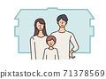 核心家庭插圖父母和孩子矢量插圖我的家 71378569