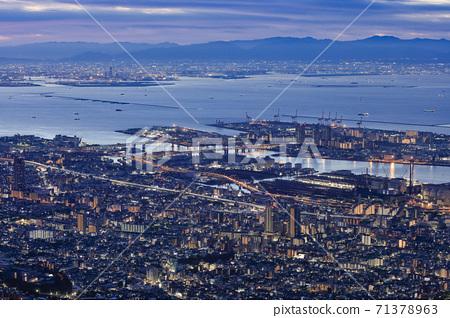 Night view of Kobe seen from Kikuseidai, Maya [2020] 71378963