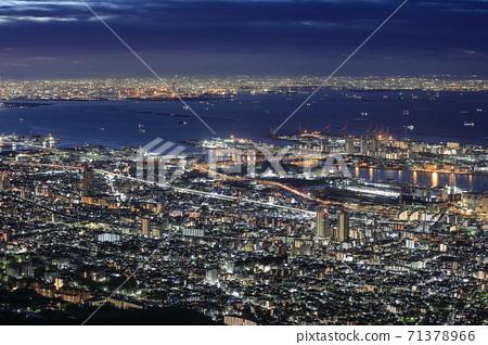 Night view of Kobe seen from Kikuseidai, Maya [2020] 71378966