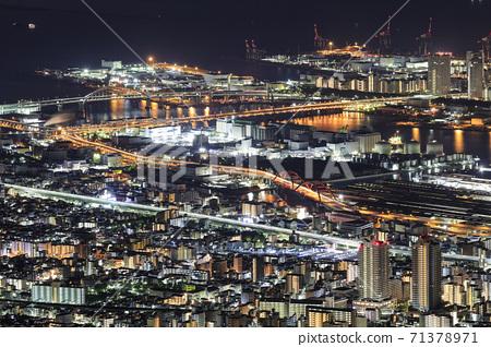 Night view of Kobe seen from Kikuseidai, Maya [2020] 71378971