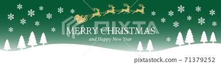 설경과 산타 클로스 크리스마스 배너 71379252