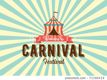 Carnival festival logo badge with Circus tent 71380419