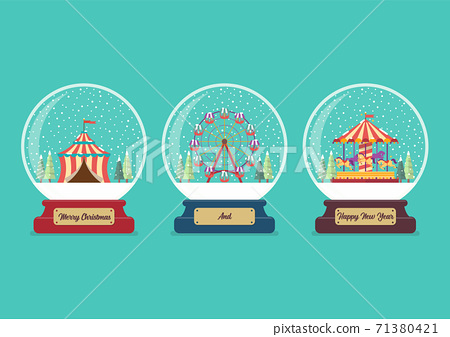 Set of Carnival fair glass ball collection 71380421