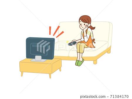 看電視的主婦 71384170