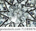 diamond structure extreme closeup and kaleidoscope 71389876
