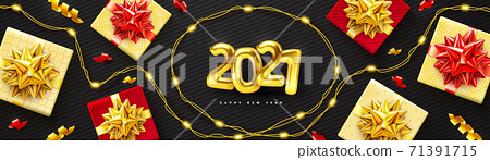 2021 background for Christmas and Happy New Year poster 71391715