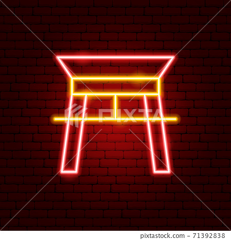 Chinese Arc Neon Sign 71392838