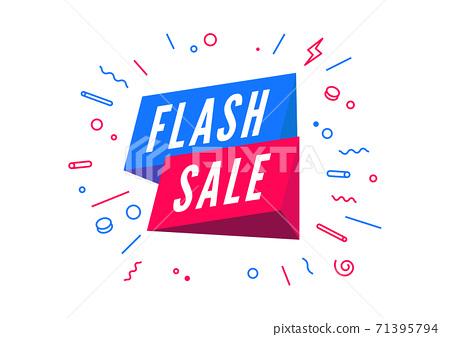 Flash sale, Online marketing banner template design. 71395794