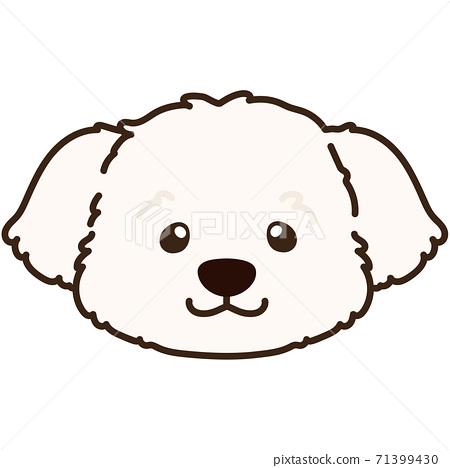 簡單和可愛的插圖,馬丁內斯奶油白色主線 71399430
