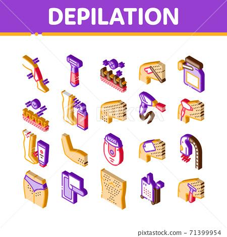 Depilation Procedure Isometric Icons Set Vector 71399954