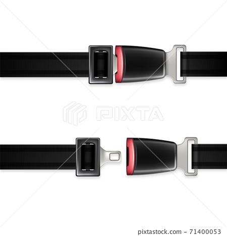 Seat Belt Automobile Life Safety Detail Set Vector 71400053