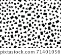 Seamless pattern with confetti of triangles, circles and squares 71401056