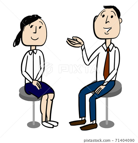 Male employees who give gentle advice to female employees 71404090