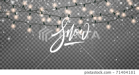 Snow holiday winter background. Winter holiday scene. Realistic snow transparent overlay 71404181