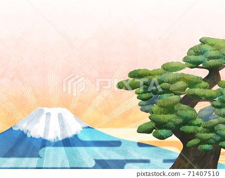 소나무와 후지산의 배경 일러스트 71407510