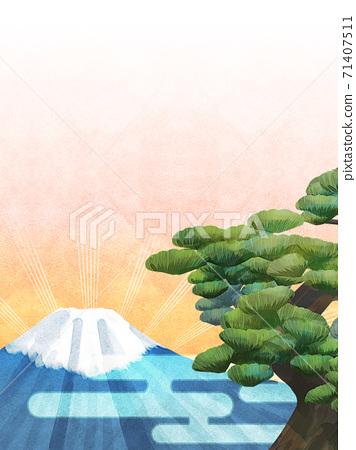 소나무와 후지산의 배경 일러스트 71407511