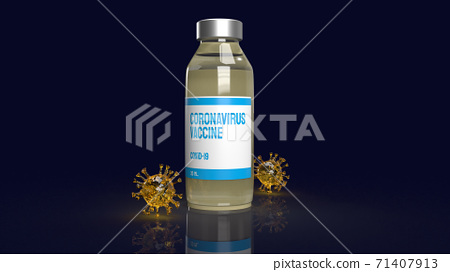 The coronavirus vaccine and virus  for medical  content 3d rendering. 71407913