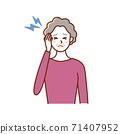 老婦與頭痛 71407952