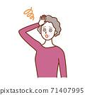 頭暈目眩的老婦 71407995