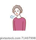 鬱悶的老婦 71407998