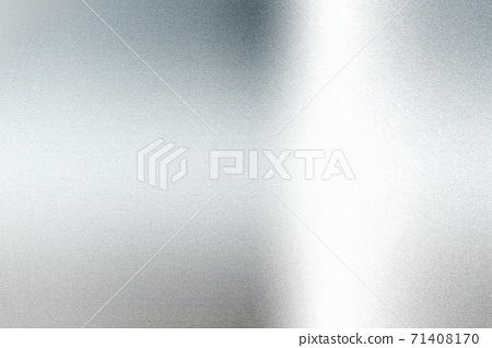 Light shining on silver foil glitter metallic wall with copy space, abstract texture background 71408170