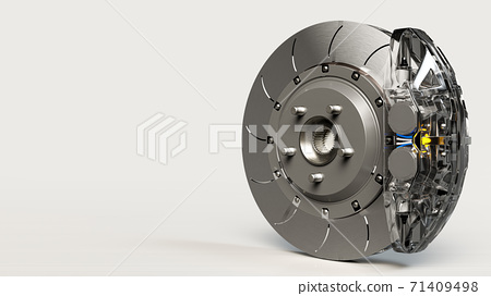 Brake Disc and Clear transparent Calliper. 71409498
