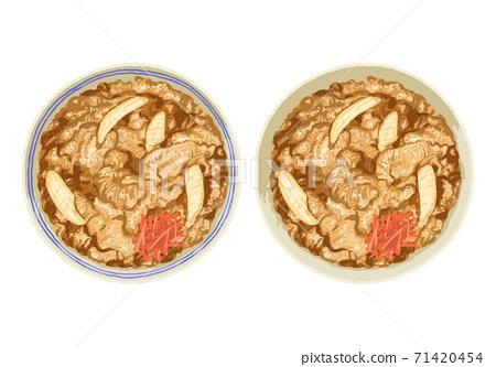 Illustration of beef bowl 71420454